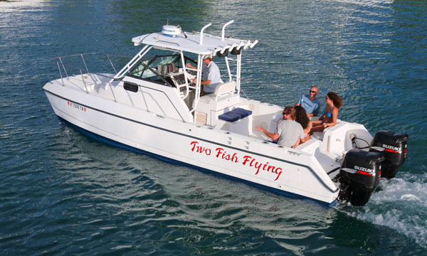 two-fish-flying-powerboat charter stjohn